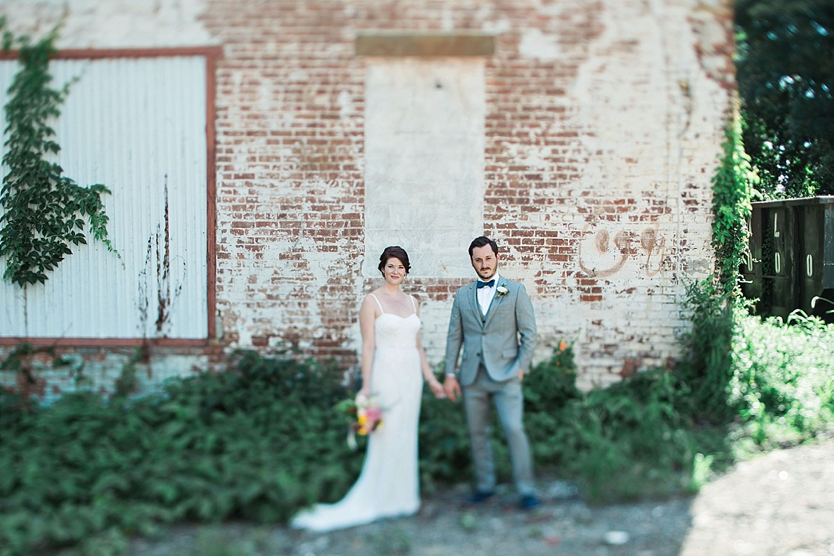 Bride and groom portraits for a summer wedding in Beacon, Hudson Valley, NY by Clean Plate Pictures