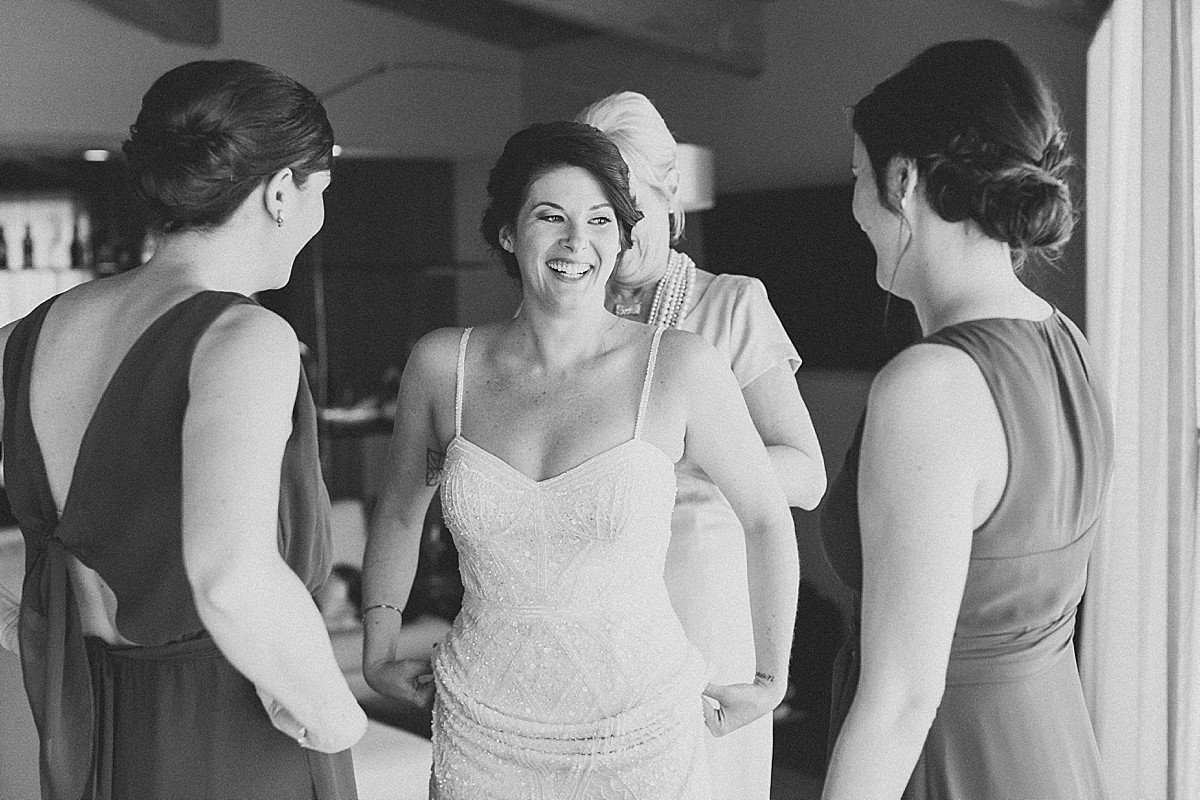 Candid wedding getting ready pictures by Clean Plate Pictures, Hudson Valley wedding photographer.