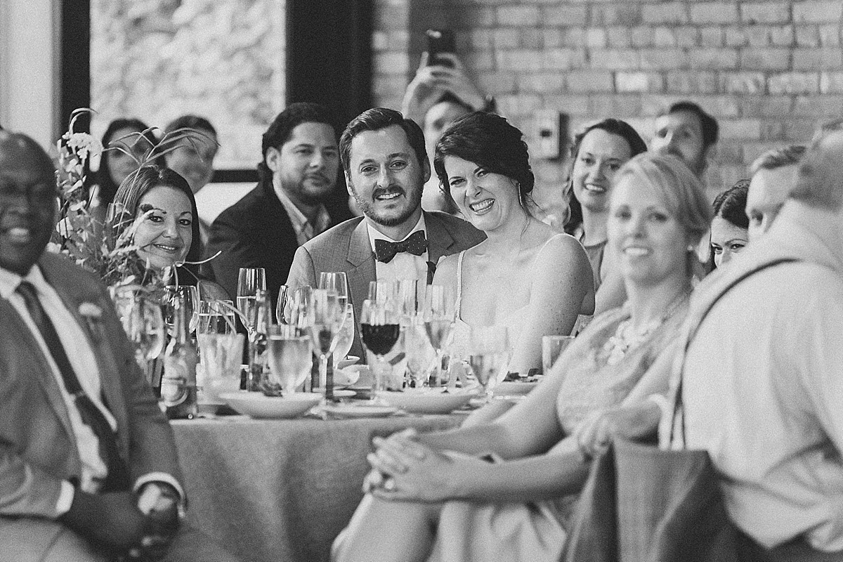 Photojournalistic romantic wedding reception photography at the Roundhouse, Beacon, NY by Clean Plate Pictures, Hudson Valley wedding photographer
