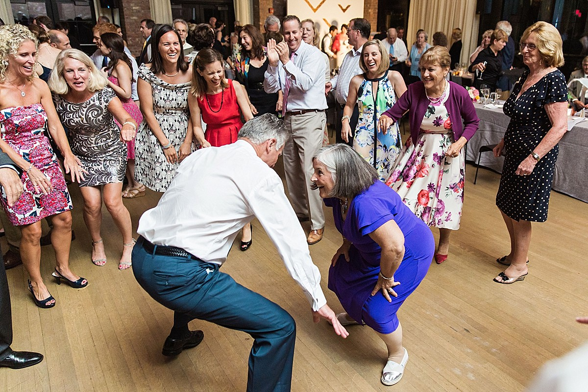 Candid wedding reception dancing photos at a Roundhouse, Beacon NY wedding by Clean Plate Pictures, Hudson Valley wedding photographer.