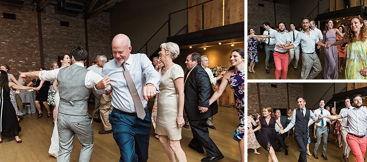 Amazing horah photos at a Roundhouse, Beacon NY wedding by Clean Plate Pictures, Hudson Valley wedding photographer.