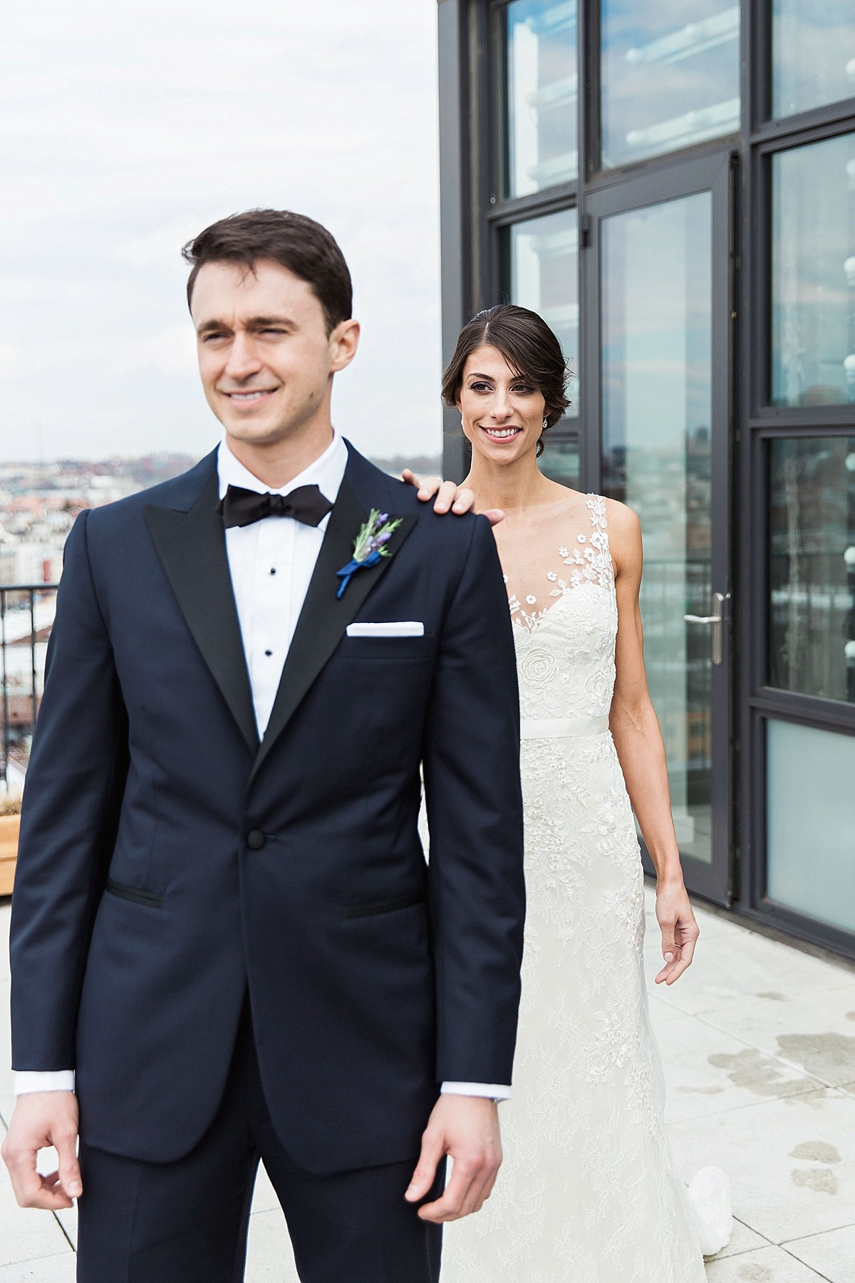 Authentic first look photos at the Wythe Hotel by Clean Plate Pictures, Brooklyn Wedding Photographer
