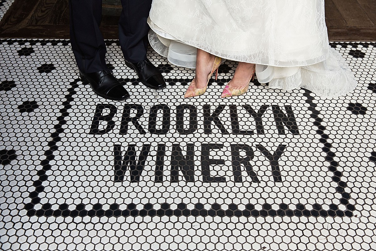 Brooklyn Winery wedding shoe photos by Clean Plate Pictures, Brooklyn Wedding Photographer