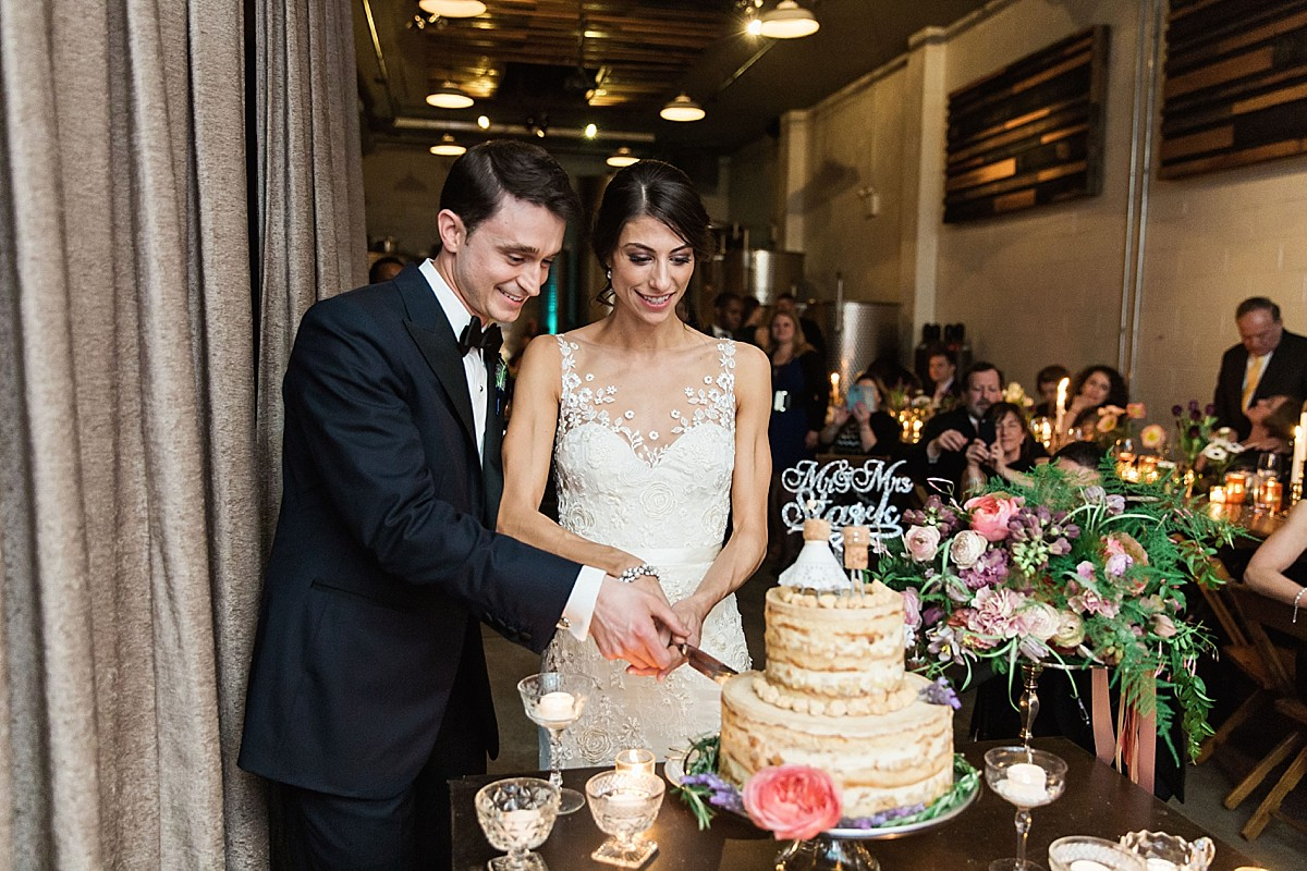 Cake Cutting photos at the Brooklyn Winery in Williamsburg, NY by Clean Plate Pictures, Brooklyn Winery Wedding Photographer