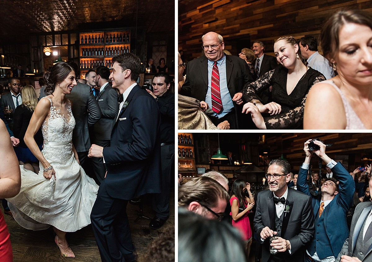 Candid Brooklyn Winery wedding reception and dancing pictures by Clean Plate Pictures, Brooklyn Wedding Photographer