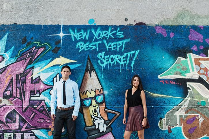 Greenpoint and Williamsburg Brooklyn Engagement Shoot