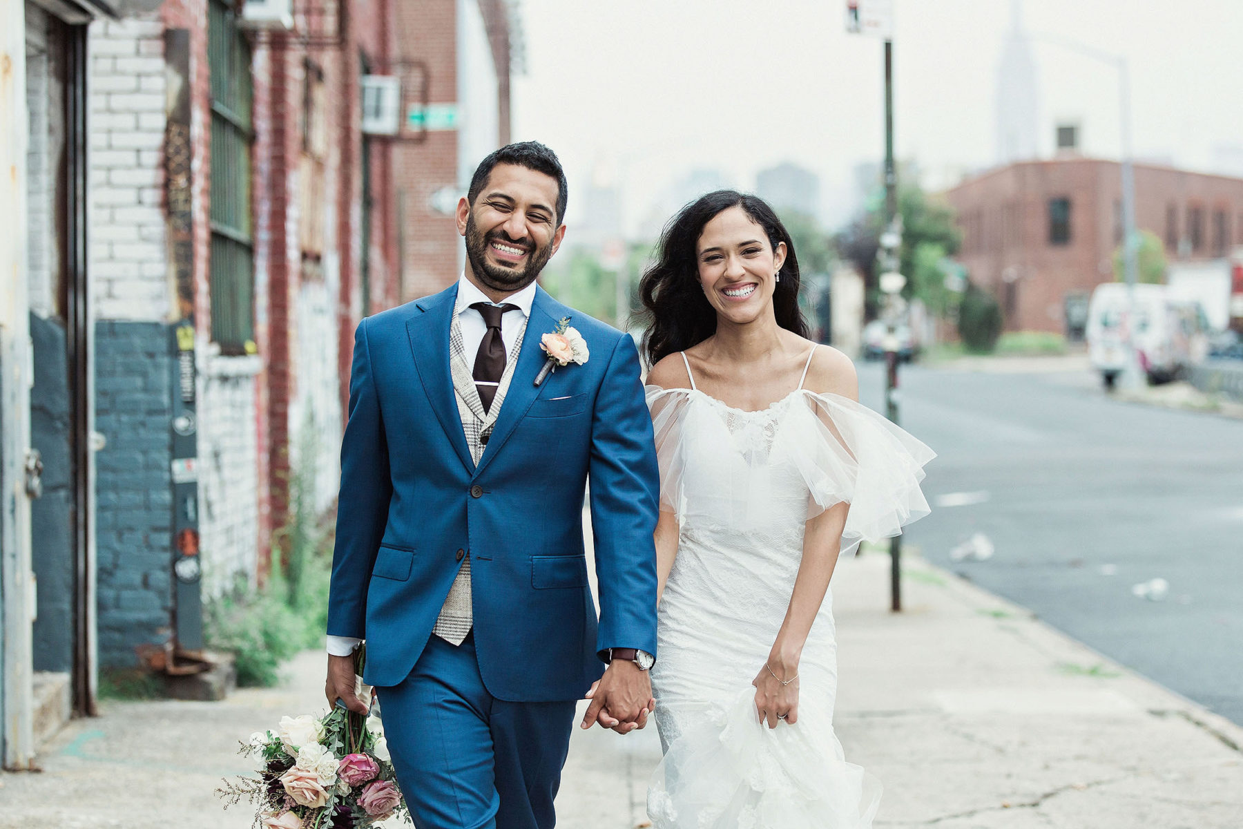 Awesome Brooklyn Street Wedding Pictures - Brooklyn Wedding Photographers