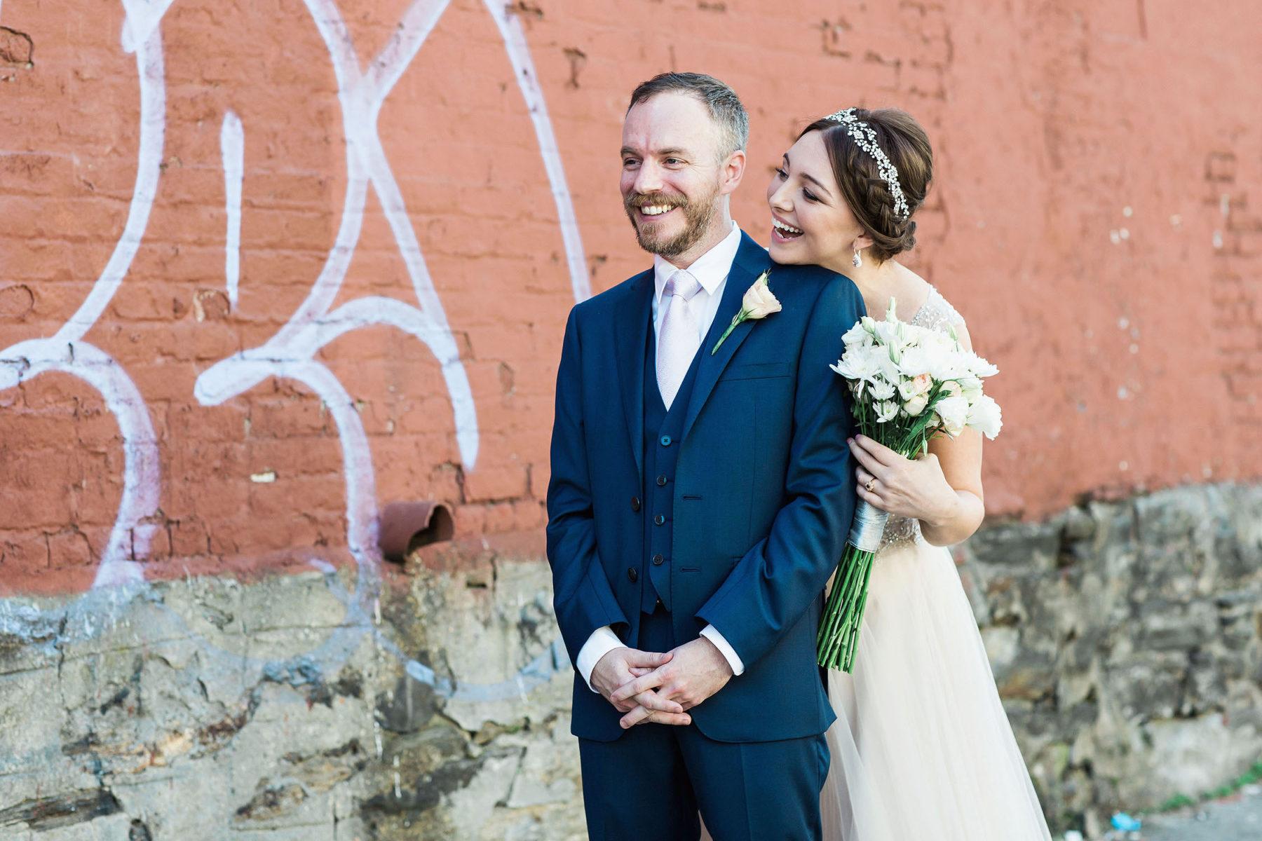 Sweet Wedding First Looks - Rad Brooklyn Wedding Photographers