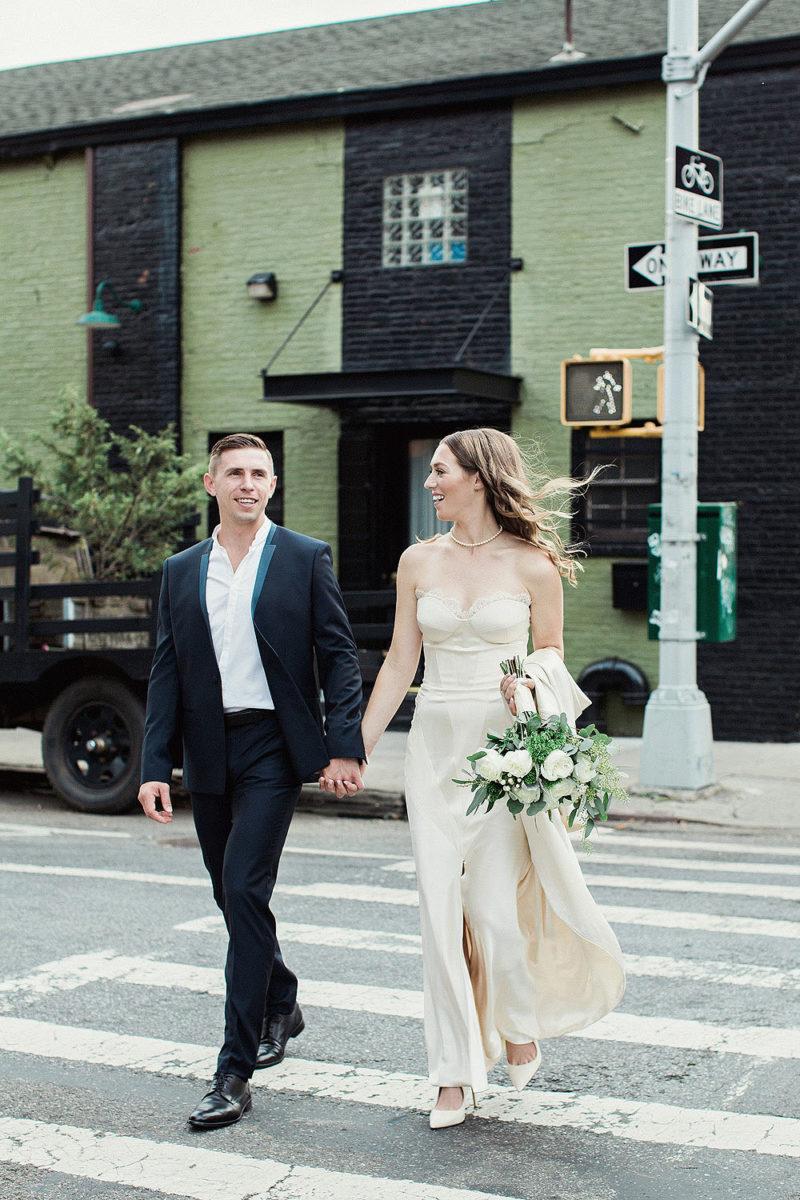 Cool Street Wedding Portraits - Green Building Wedding Photographers