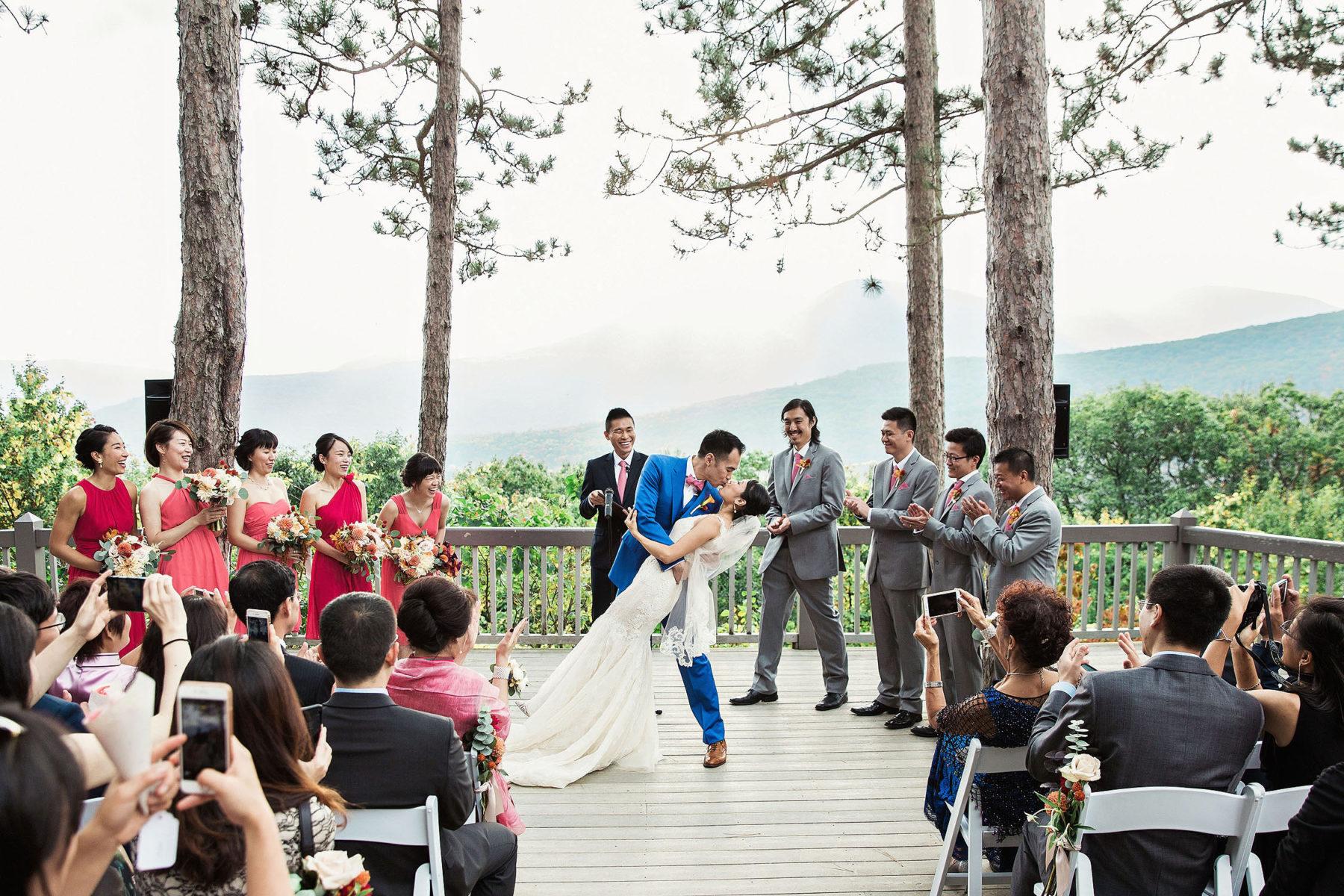 Onteora Mountain House Ceremony Wedding Photography