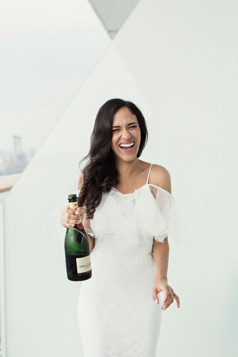 Funny Bridal Portraits - Amazing Brooklyn Wedding Photography