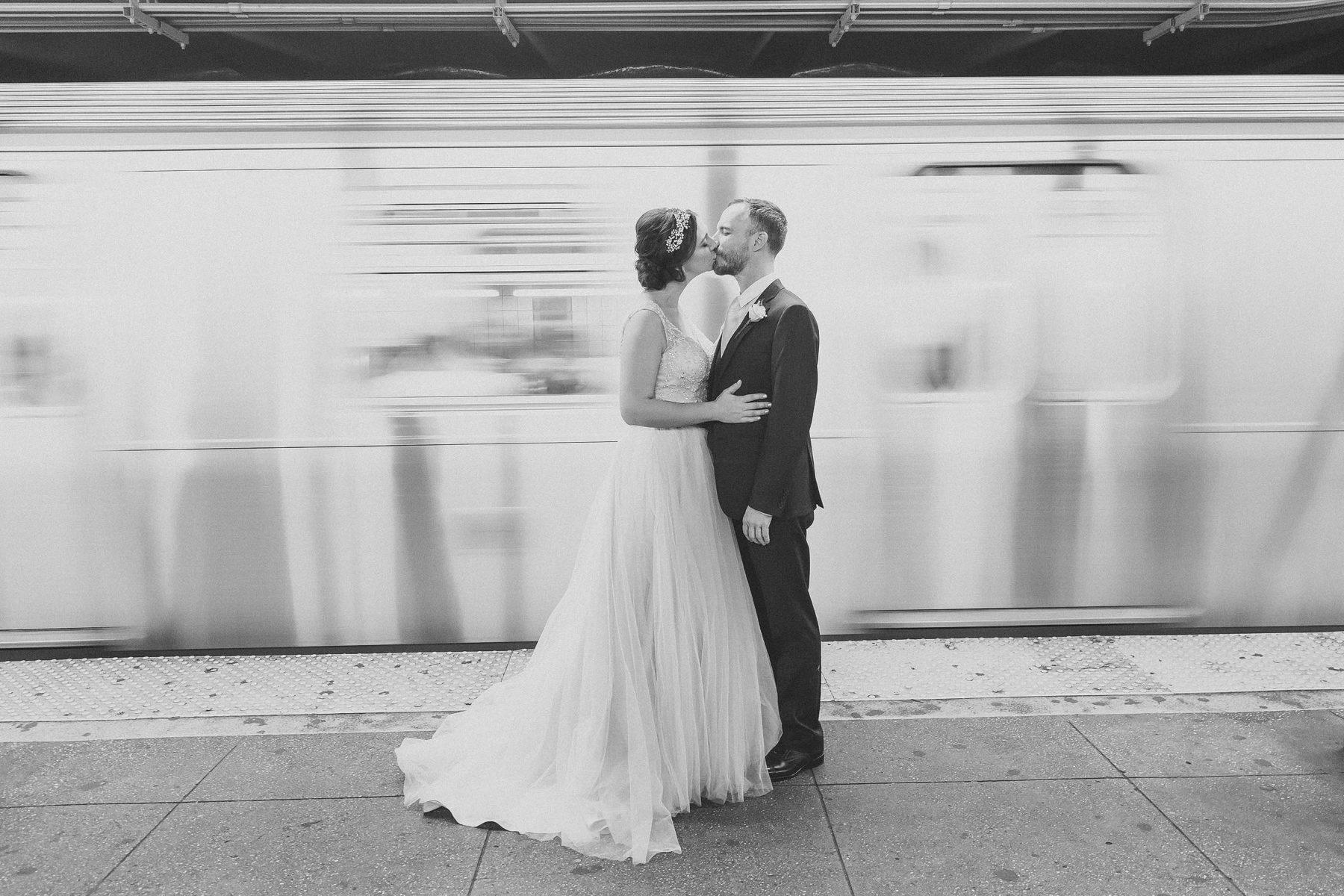 Brooklyn Subway Wedding Pictures - Rad Brooklyn Wedding Photographers