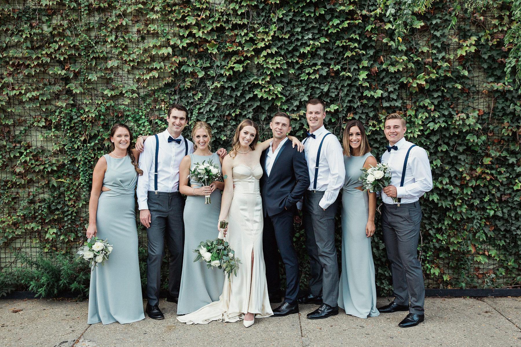 Green Building Wedding Party Photos - Top Wedding Photographers