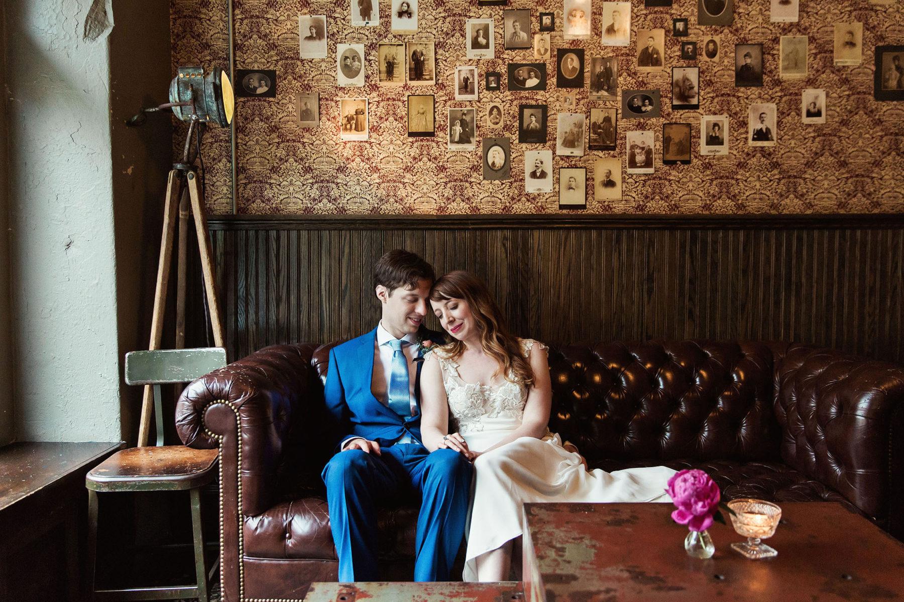 Brooklyn Winery Wedding Portrait Room