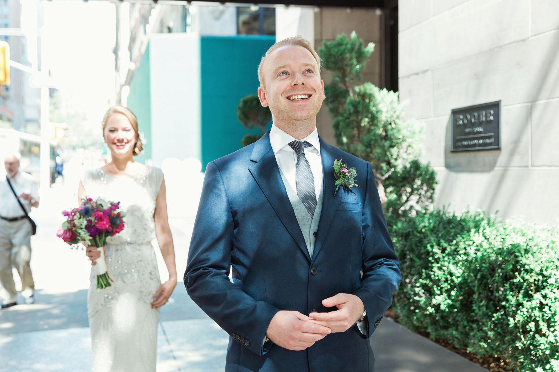 First Look Street Photos - New York City Wedding Photographers