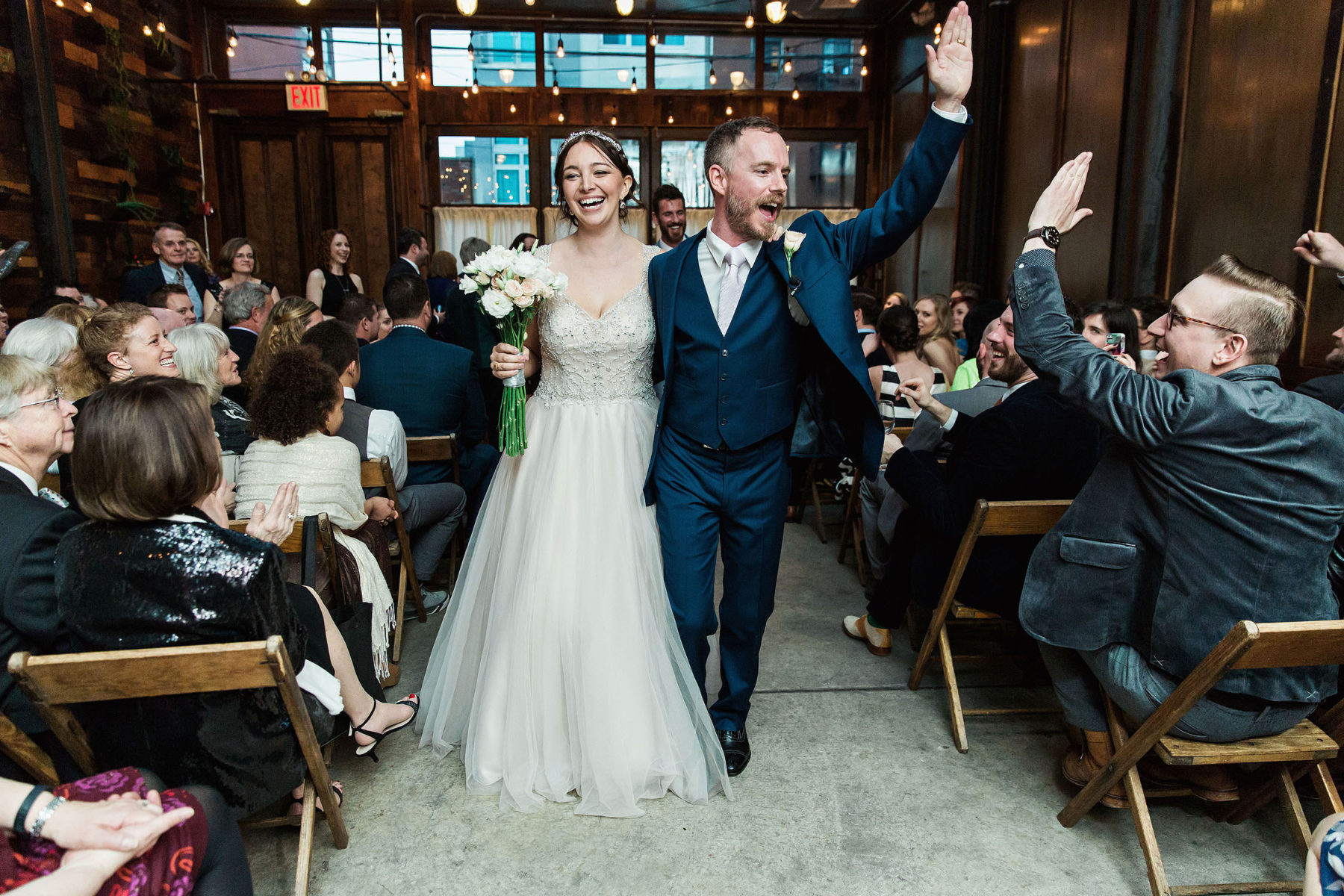 Amazing Wedding Recessional Pictures - Brooklyn Winery Wedding Photographers