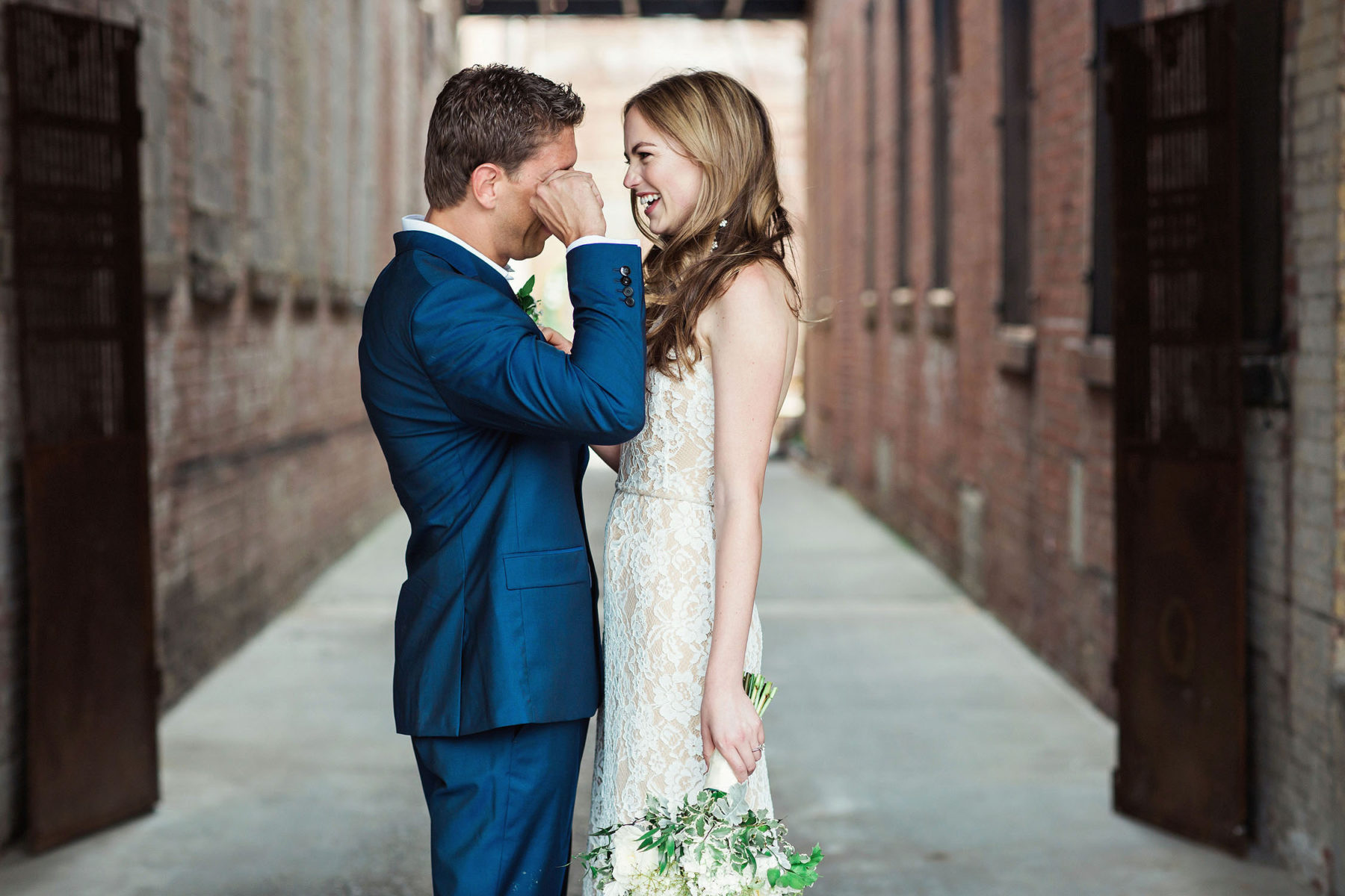 Authentic First Look Pictures - Brooklyn Wedding Photography