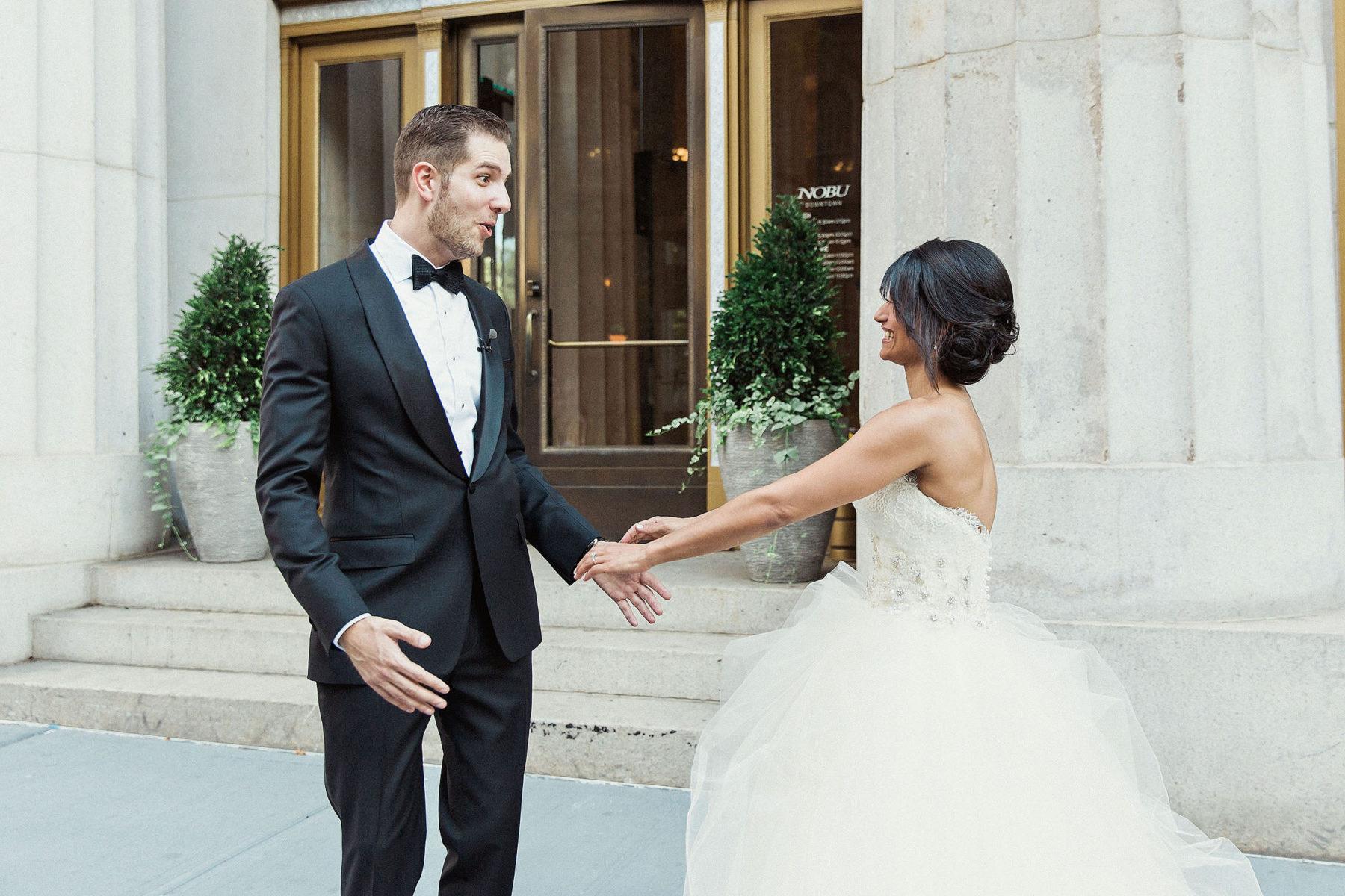 NYC Wedding First Look